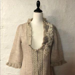 ANTHROPOLOGIE sweater coat/ long cardigan